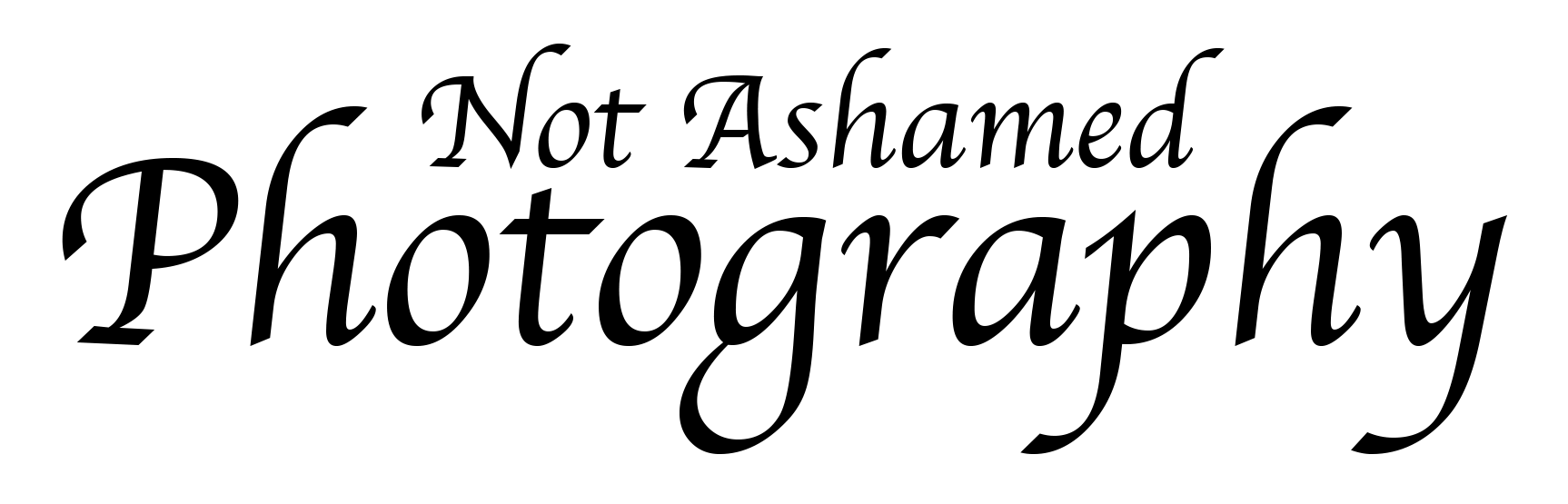 Not Ashamed: Photography